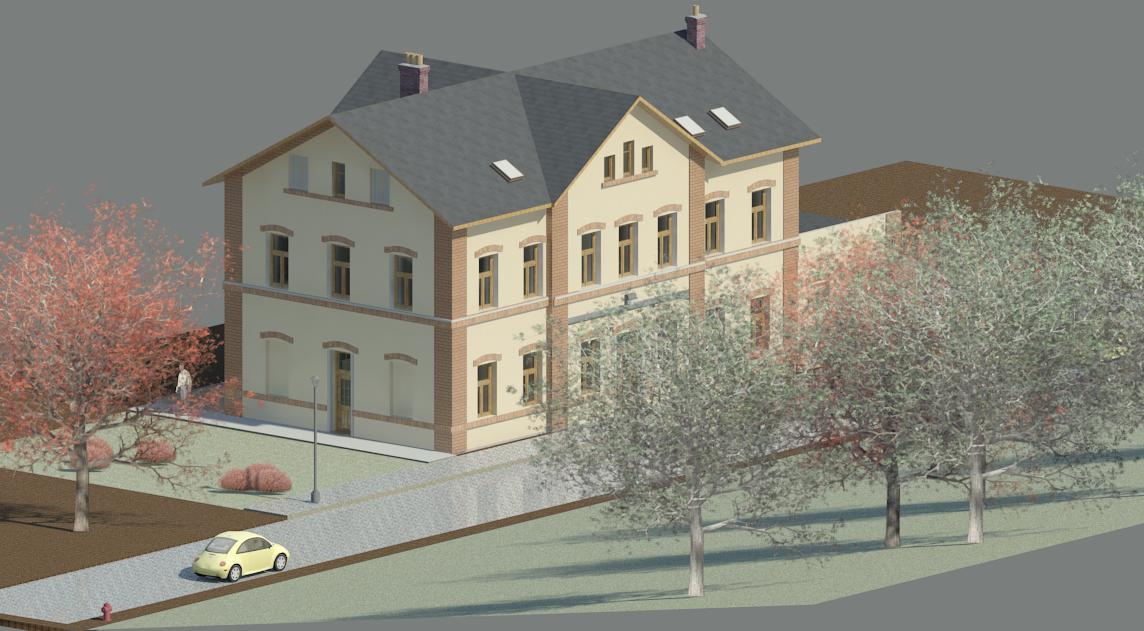 Celková rekonstrukce nádražní budovy v Kamenickém Šenově
